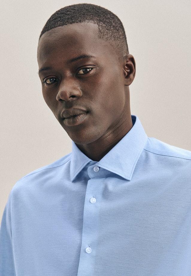 Jerseyhemd in X-Slim mit Kentkragen in Hellblau    Seidensticker Onlineshop
