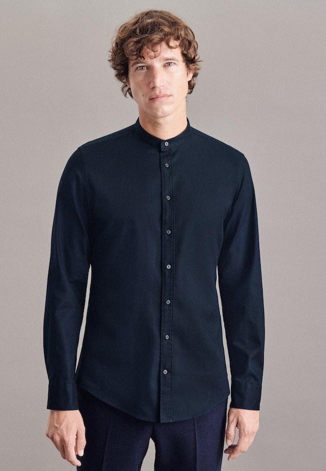 Easy-iron Twill Business Shirt in X-Slim with Stand-Up Collar in Dark blue |  Seidensticker Onlineshop
