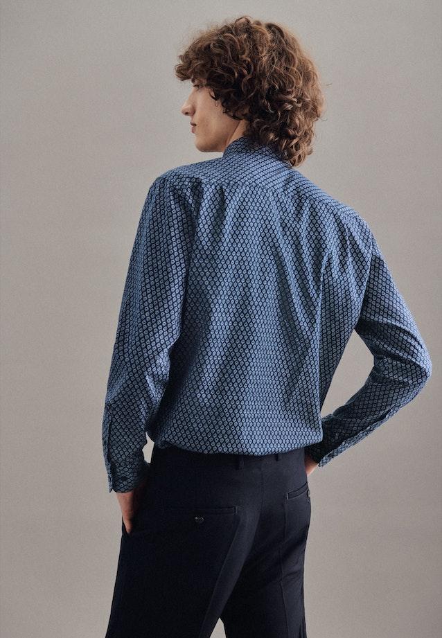 Twill Casual Hemd in Regular mit Kentkragen in Mittelblau    Seidensticker Onlineshop