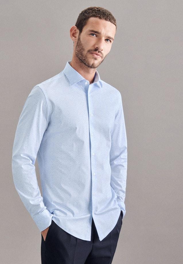 Jerseyhemd in Slim mit Kentkragen in Hellblau    Seidensticker Onlineshop