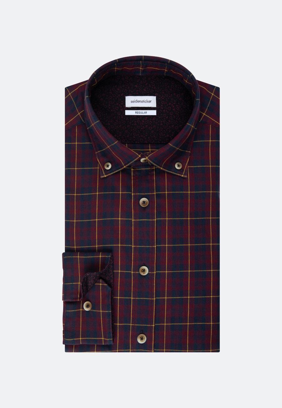 Twill Casual Hemd in Regular mit Button-Down-Kragen in Rot    Seidensticker Onlineshop
