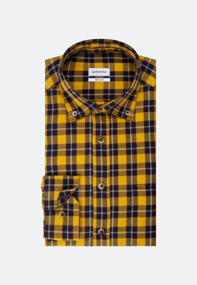 Twill Casual Hemd in Regular mit Button-Down-Kragen in Gelb |  Seidensticker Onlineshop