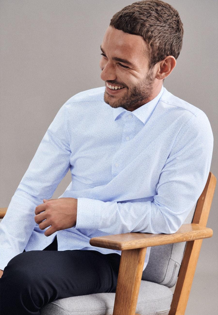 Jerseyhemd in Shaped mit Kentkragen in Hellblau |  Seidensticker Onlineshop