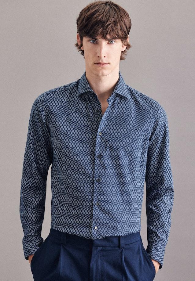 Twill Casual Hemd in Slim mit Kentkragen in Mittelblau |  Seidensticker Onlineshop