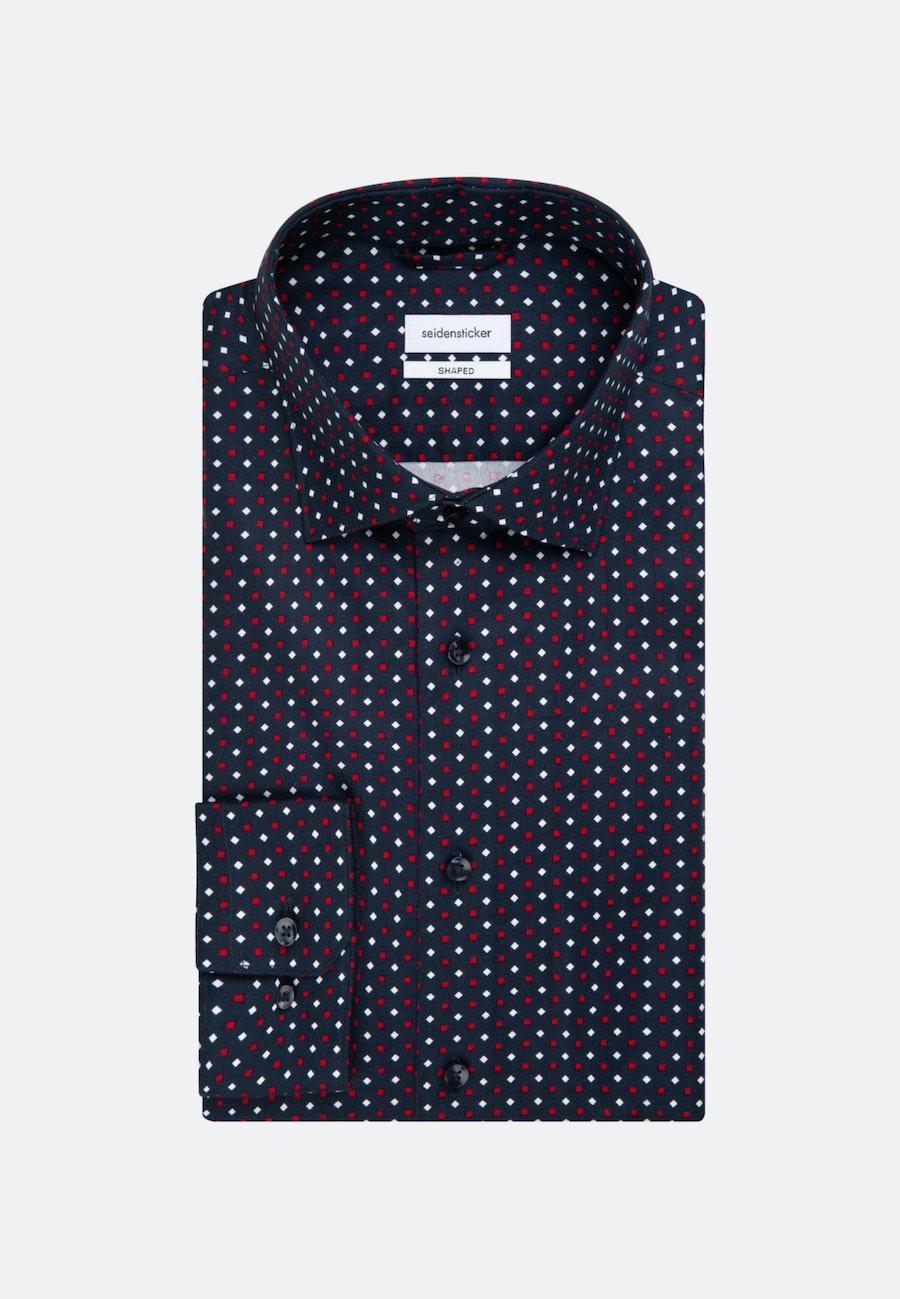 Twill Business Hemd in Shaped mit Kentkragen in Dunkelblau |  Seidensticker Onlineshop