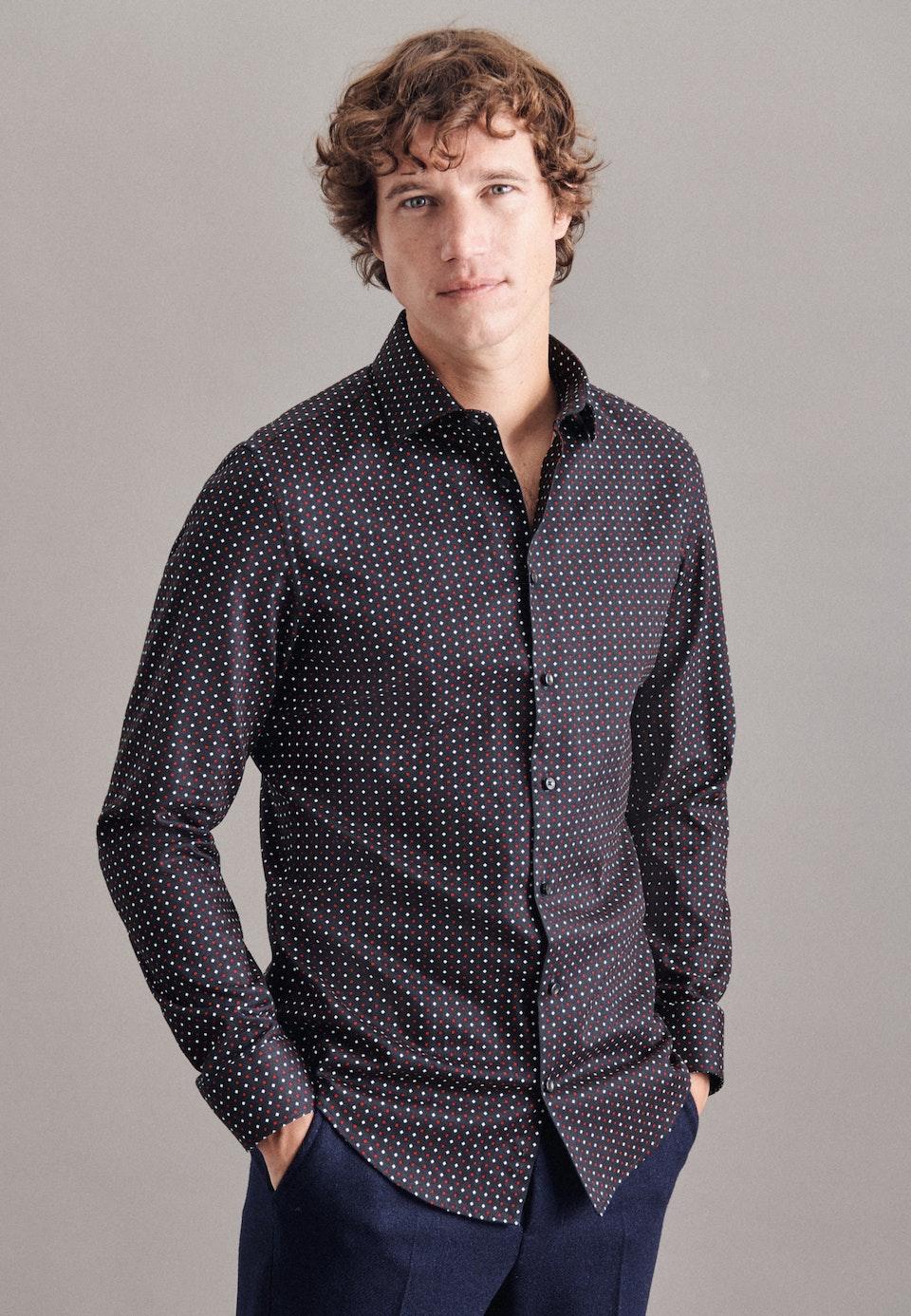 Twill Business Hemd in X-Slim mit Kentkragen in Dunkelblau    Seidensticker Onlineshop