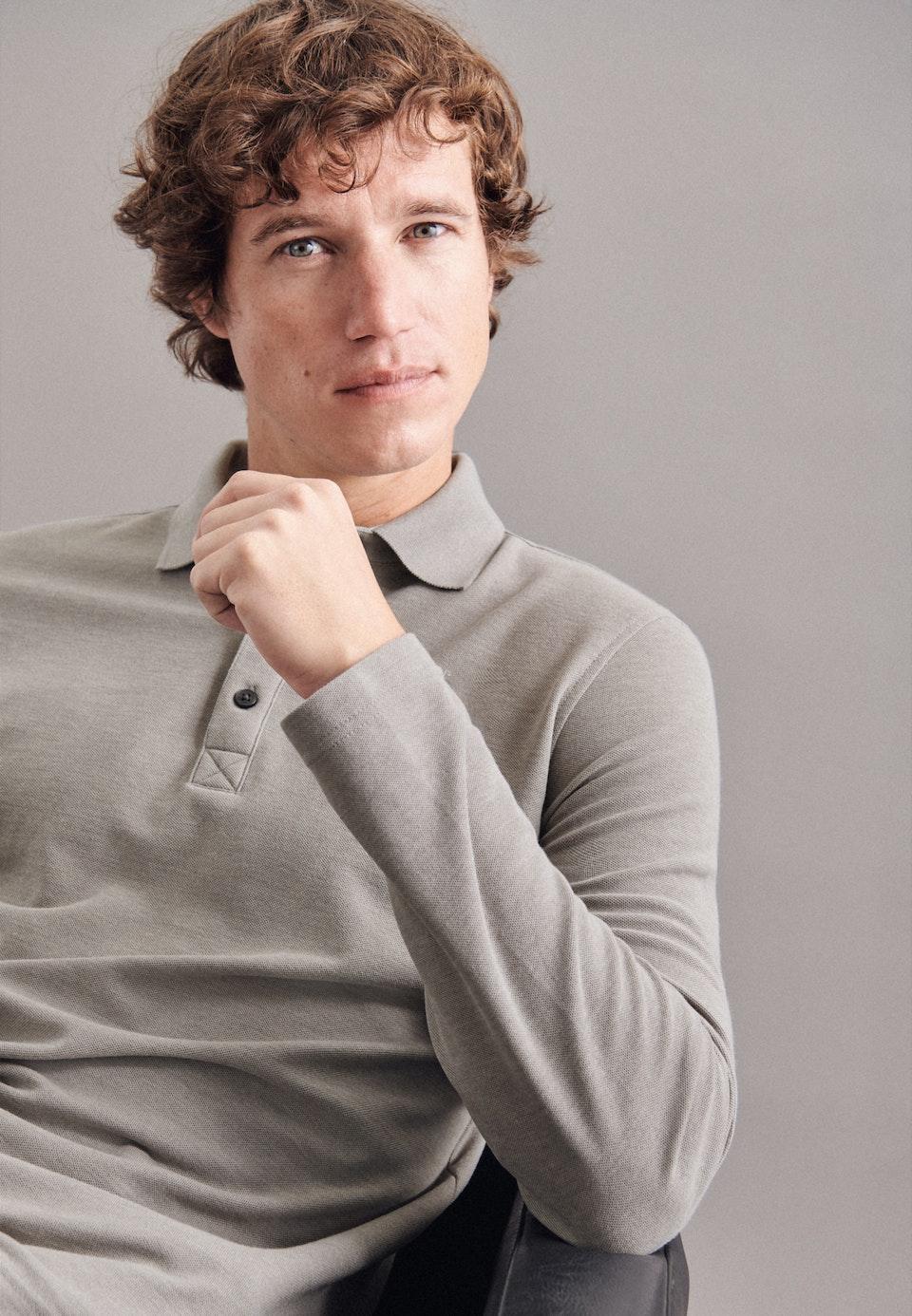 Polo-Shirt aus Baumwollmischung in Grau    Seidensticker Onlineshop