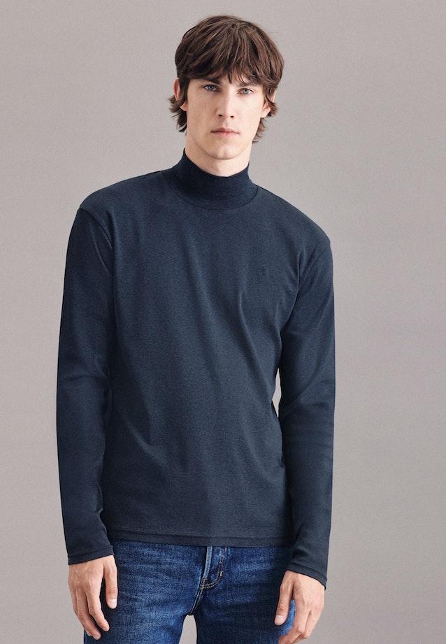 Stand-Up Collar Pullover 100% Cotton in Grey |  Seidensticker Onlineshop