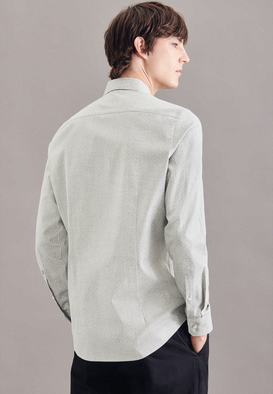 Twill Business Hemd in Shaped mit Kentkragen in Grau    Seidensticker Onlineshop