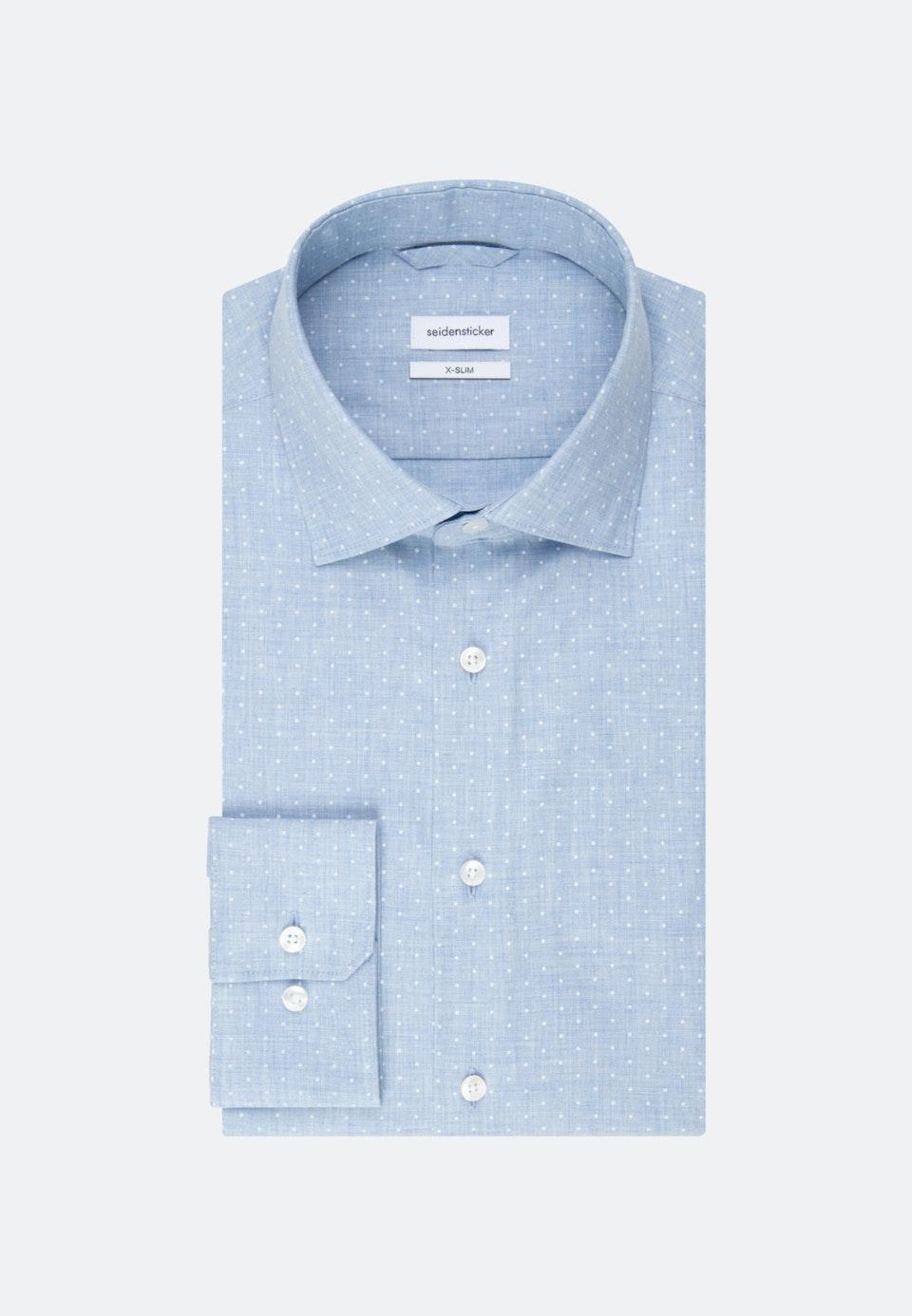 Twill Business Hemd in X-Slim mit Kentkragen in Hellblau |  Seidensticker Onlineshop