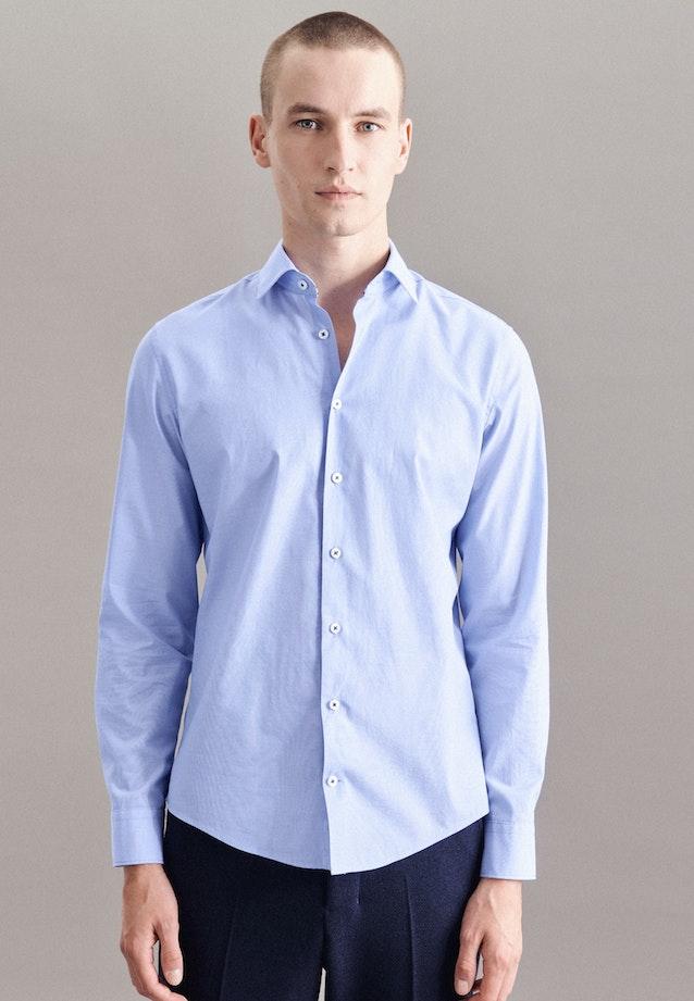 Chambray Casual Hemd in Slim mit Kentkragen in Hellblau    Seidensticker Onlineshop