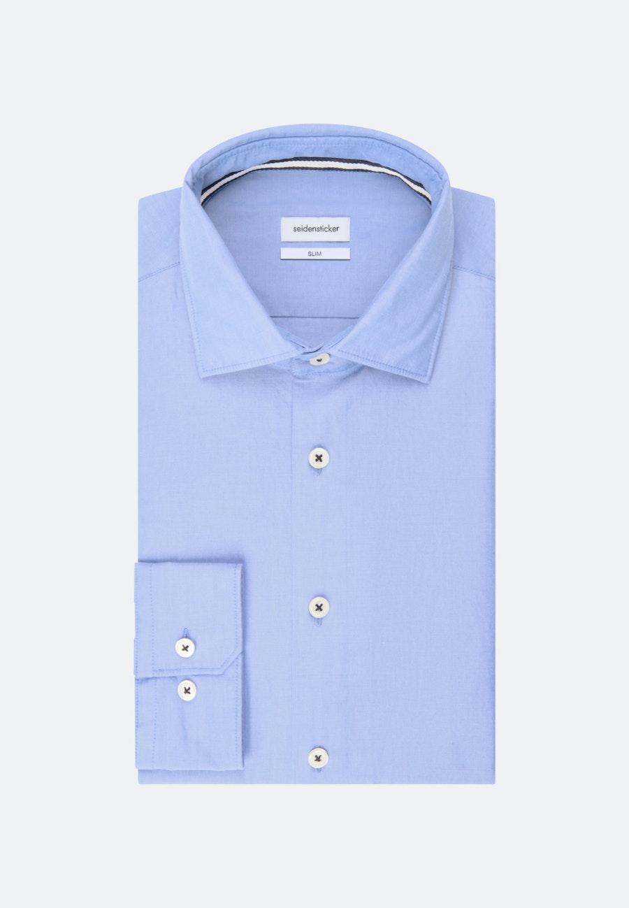 Chambray Casual Hemd in Slim mit Kentkragen in Hellblau |  Seidensticker Onlineshop