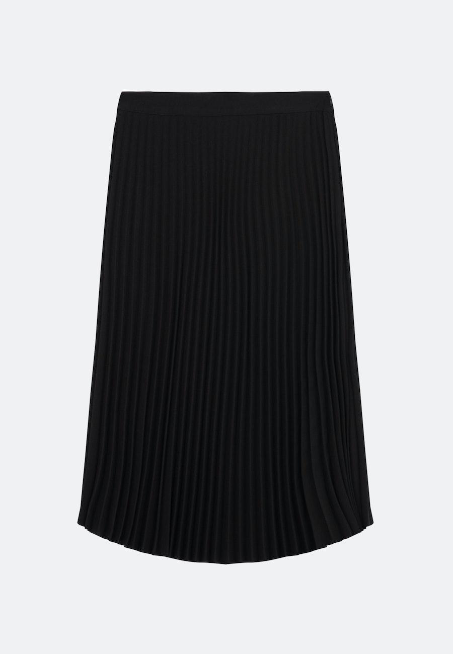 Krepp Midi Rock aus 100% Polyester in Schwarz |  Seidensticker Onlineshop