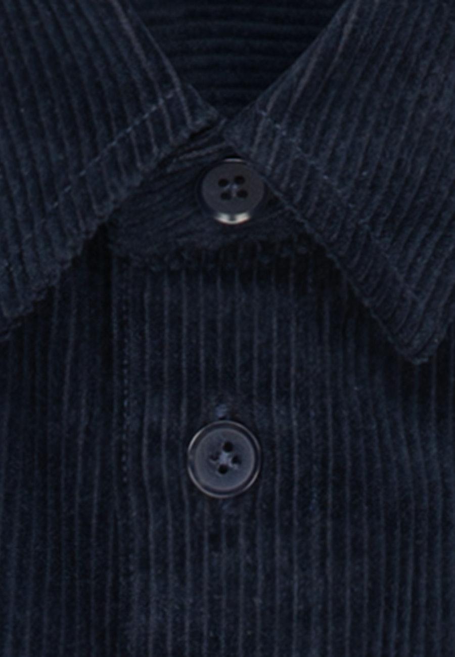 Cord Overshirt in Regular mit Kentkragen in Dunkelblau |  Seidensticker Onlineshop