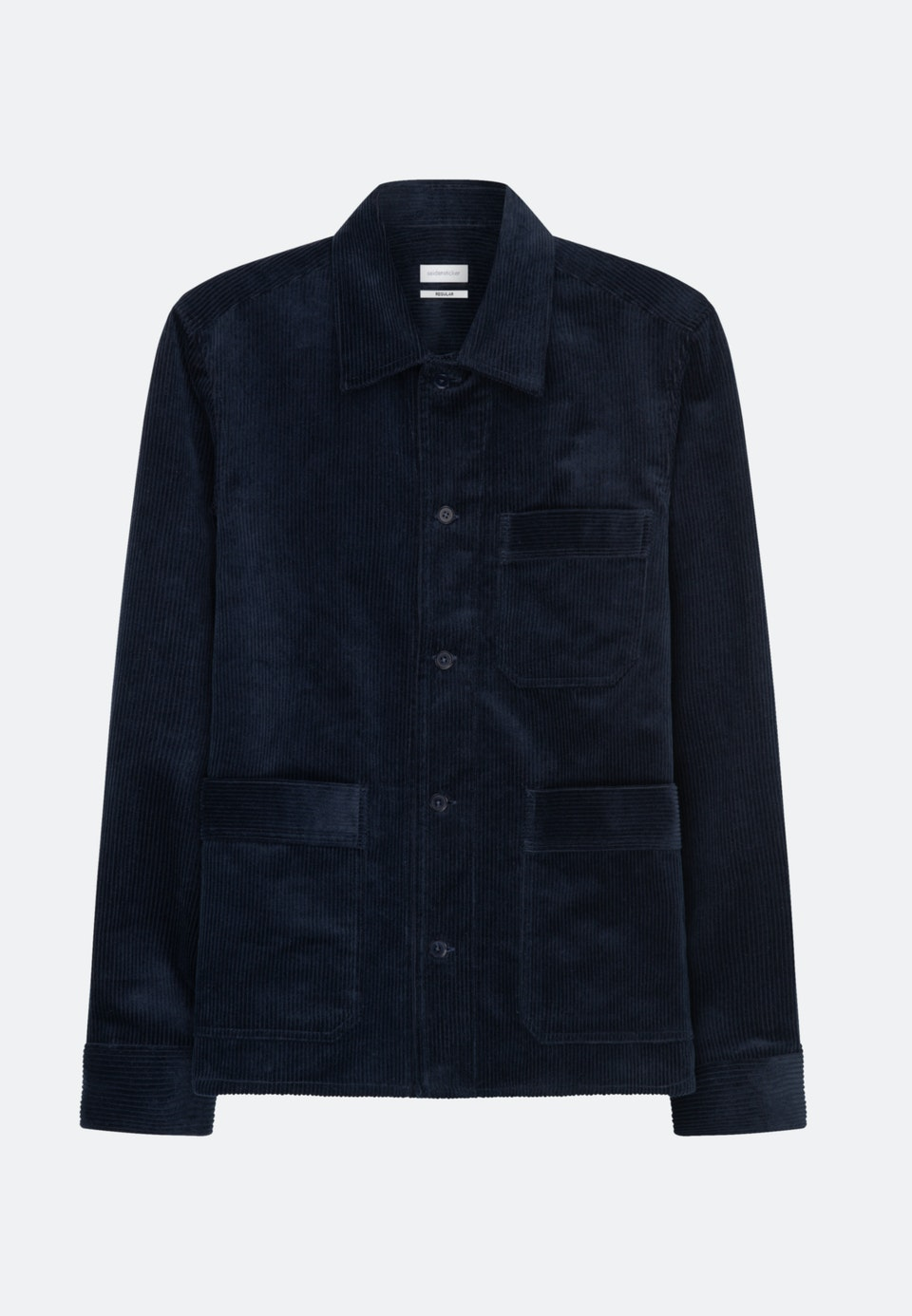 Cord Overshirt in Regular mit Reverskragen in Dunkelblau    Seidensticker Onlineshop