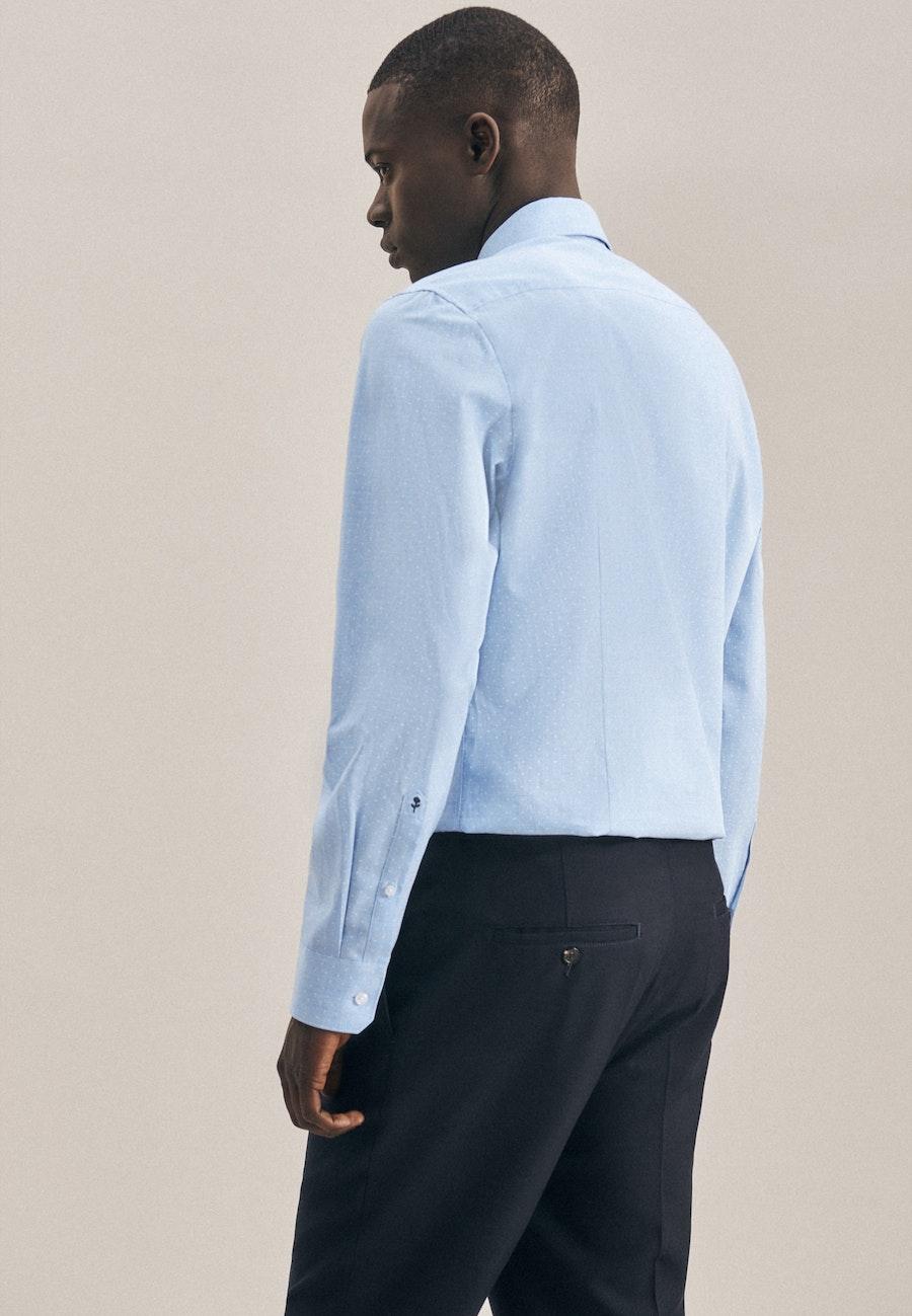 Twill Business Hemd in Slim mit Kentkragen in Hellblau    Seidensticker Onlineshop