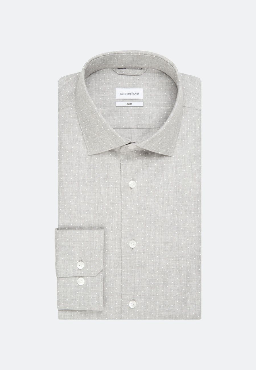 Twill Business Hemd in Slim mit Kentkragen in Grau |  Seidensticker Onlineshop