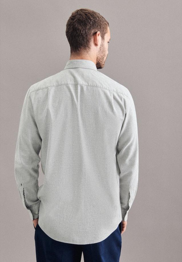 Twill Casual Hemd in Regular mit Button-Down-Kragen in Grau |  Seidensticker Onlineshop