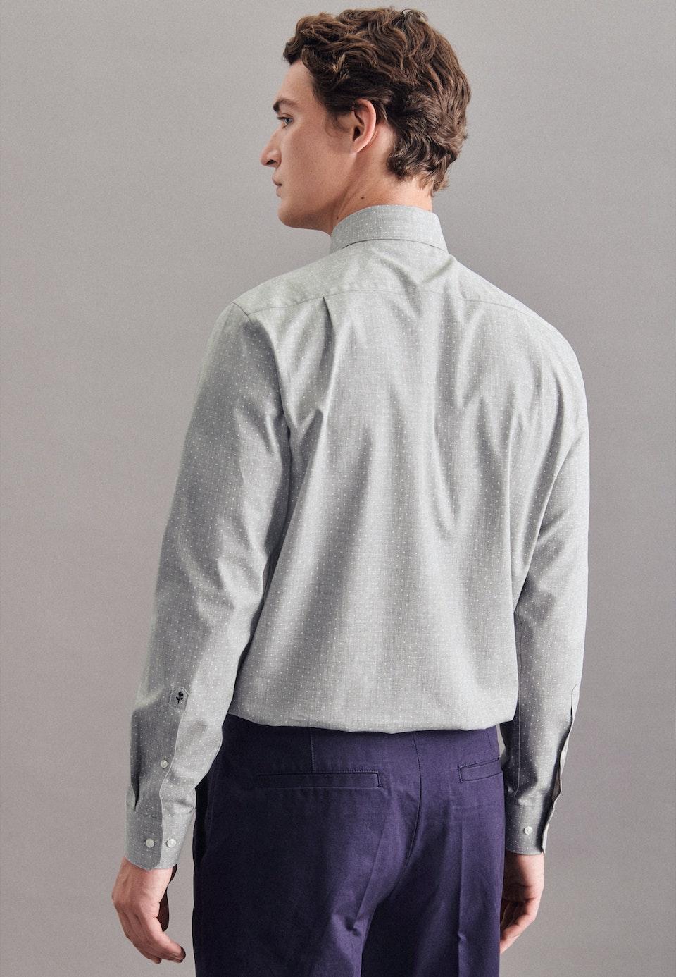 Twill Business Hemd in Regular mit Kentkragen in Grau |  Seidensticker Onlineshop