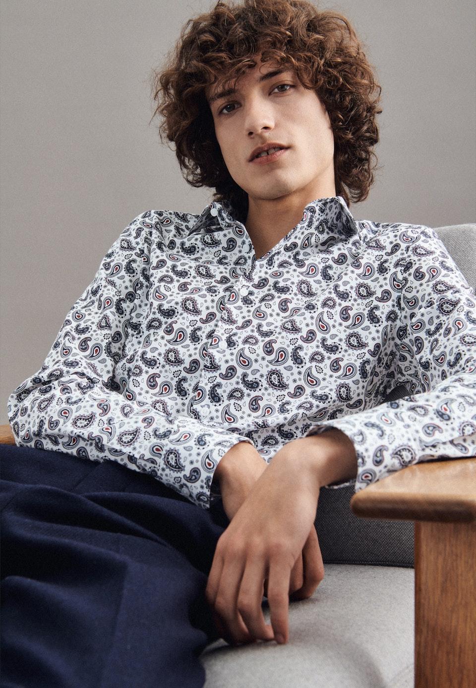 Twill Business Hemd in Slim mit Kentkragen in Weiß |  Seidensticker Onlineshop