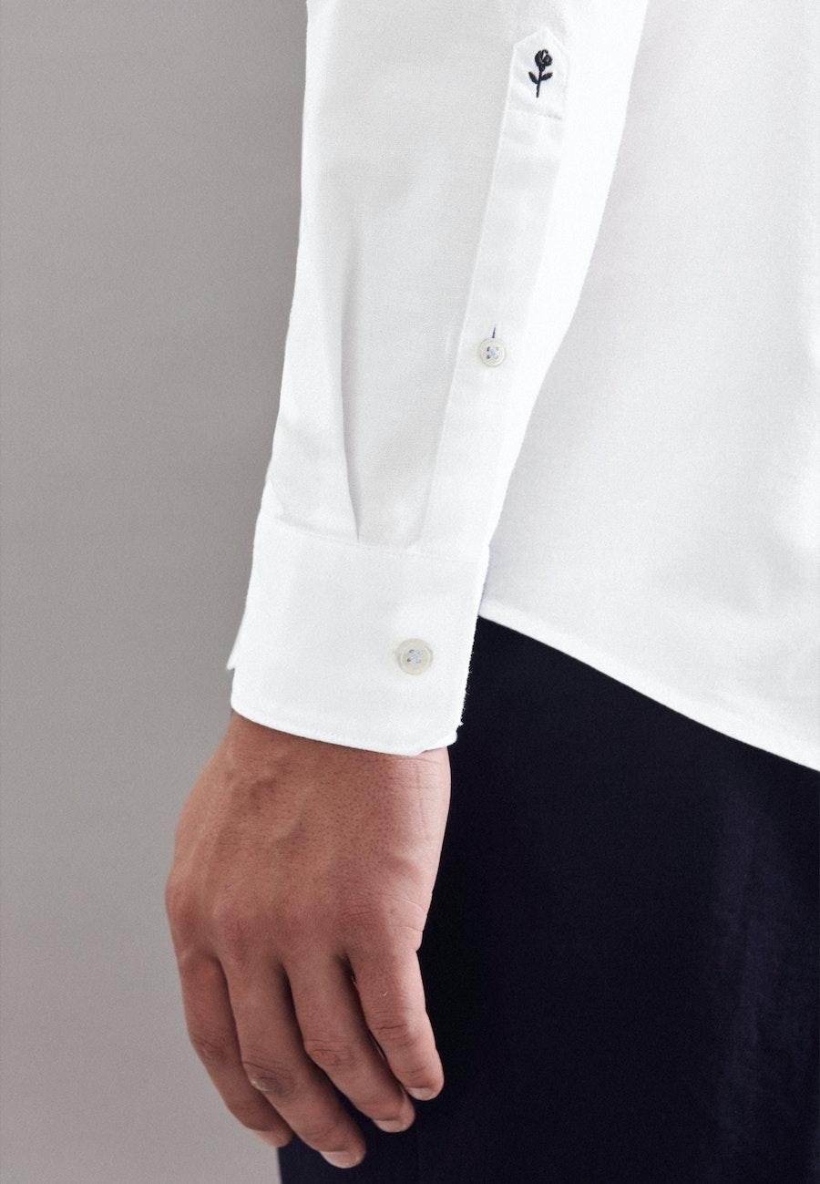 Oxfordhemd in Regular mit Kentkragen in Weiß |  Seidensticker Onlineshop