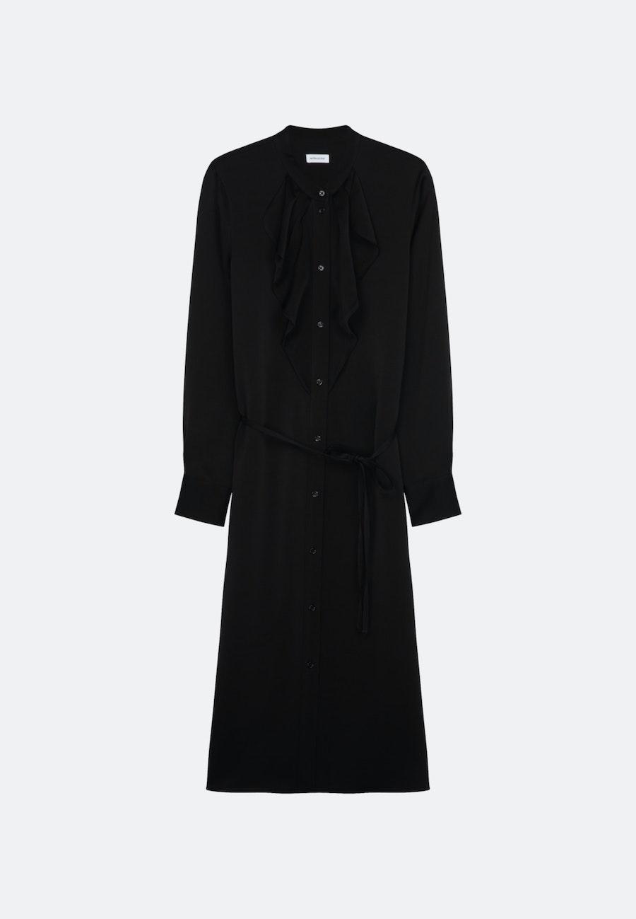 Krepp Satin Maxi Kleid aus 100% Viskose in Schwarz |  Seidensticker Onlineshop
