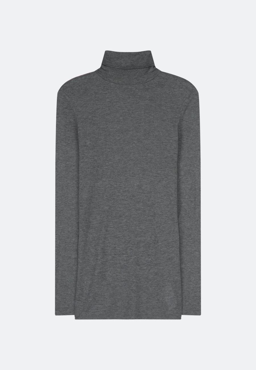 Rollkragen Pullover Slim fit Wollmischung in Grau    Seidensticker Onlineshop