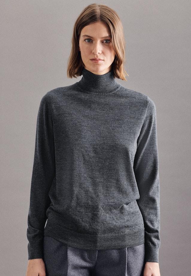 Polo neck Pullover Regular fit 100% Wool in Grey |  Seidensticker Onlineshop