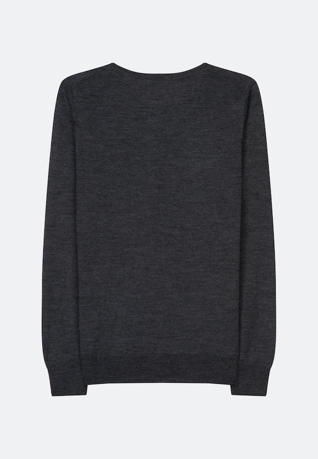 Crew Neck Pullover Regular fit 100% Wool in Grau |  Seidensticker Onlineshop