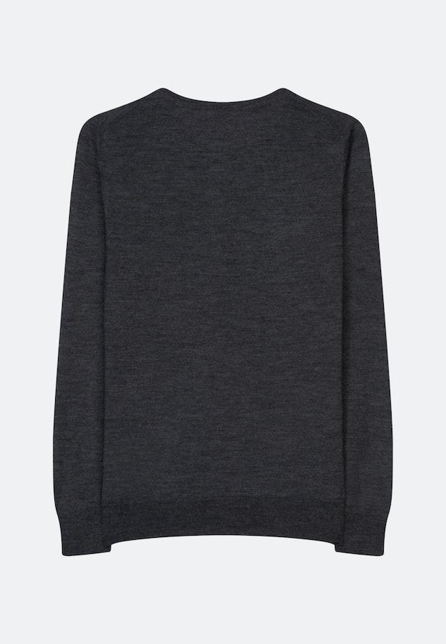 Rundhals Pullover Regular fit 100% Wolle in Grau |  Seidensticker Onlineshop
