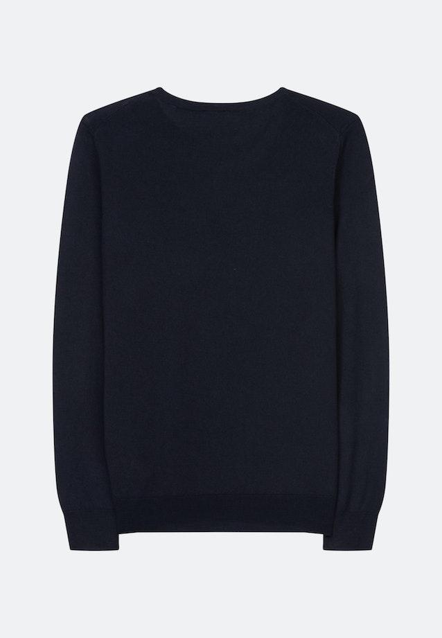 Crew Neck Pullover Regular fit 100% Wool in Dark blue |  Seidensticker Onlineshop