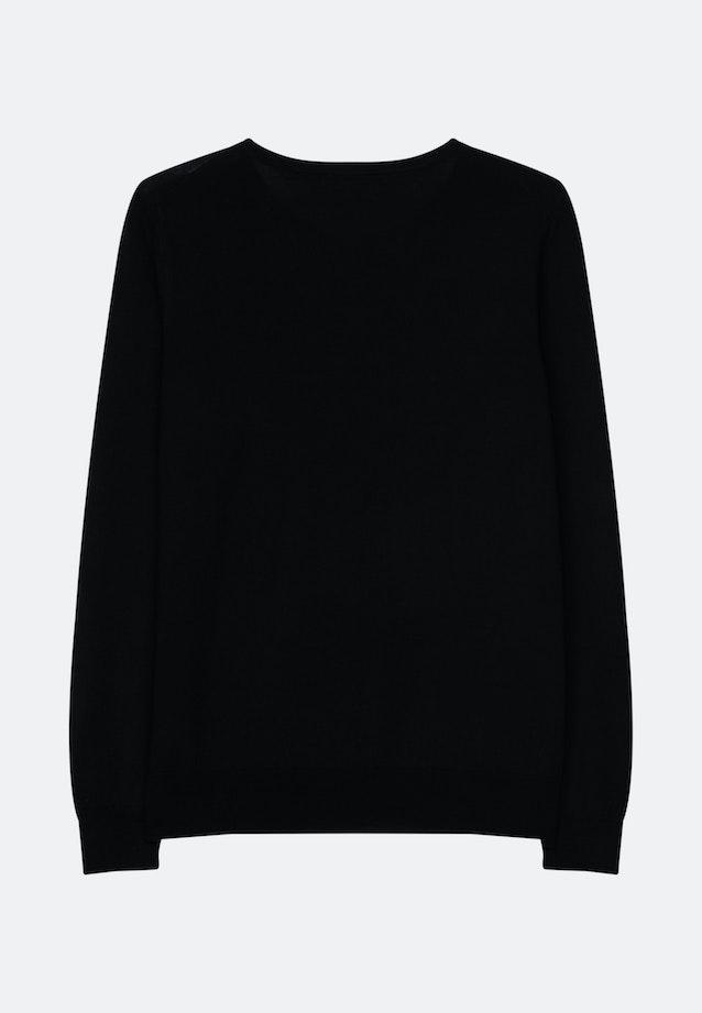 Crew Neck Pullover Regular fit 100% Wool in Schwarz |  Seidensticker Onlineshop
