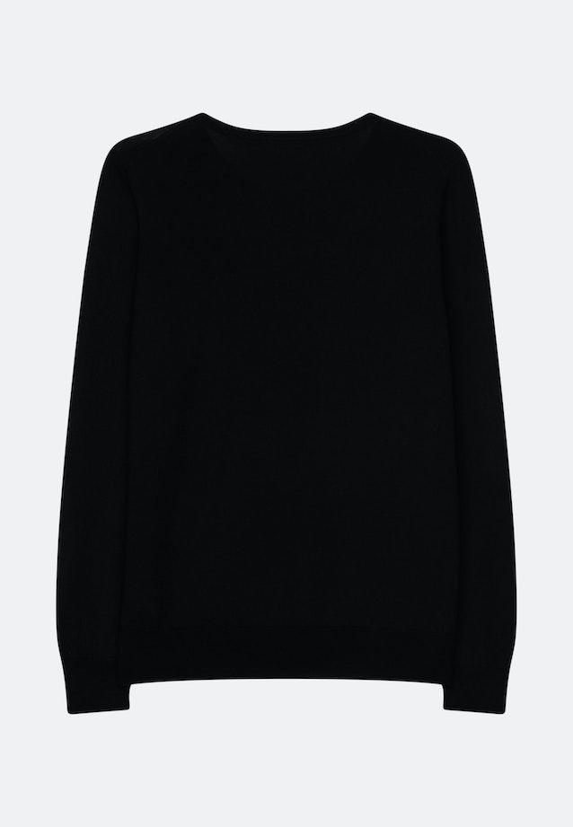 Crew Neck Pullover Regular fit 100% Wool in Schwarz    Seidensticker Onlineshop