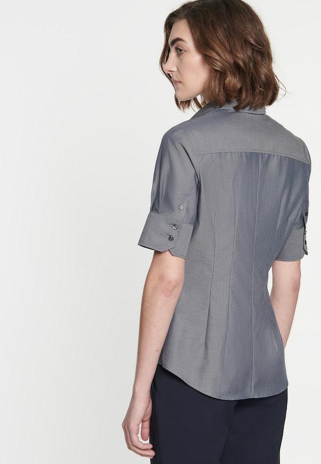 Non-iron Short sleeve Poplin Shirt Blouse made of 100% Cotton in Grey |  Seidensticker Onlineshop
