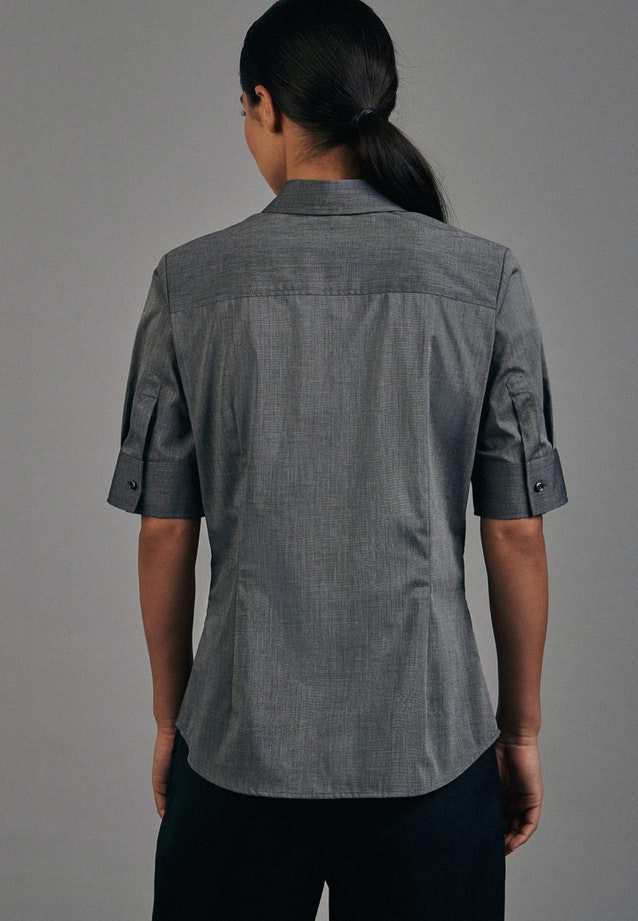 Non-iron Short sleeve Popeline Shirt Blouse made of 100% Cotton in Grey |  Seidensticker Onlineshop