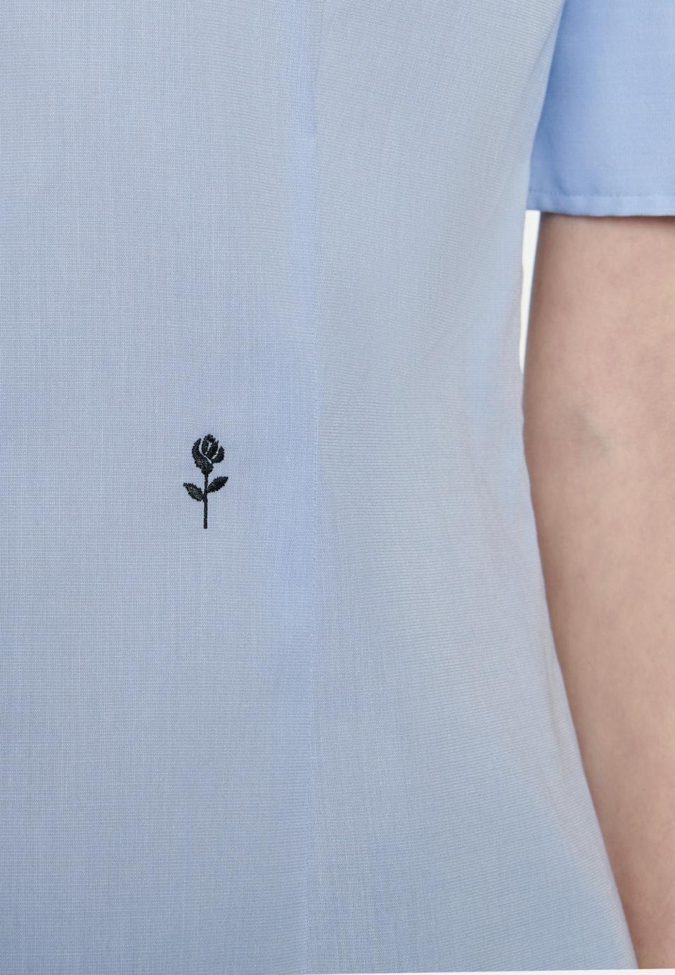 Non-iron Short sleeve Poplin Shirt Blouse made of 100% Cotton in Light blue    Seidensticker Onlineshop