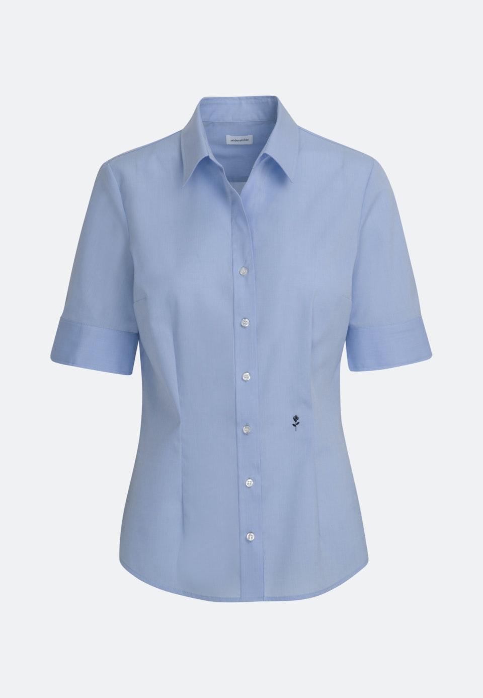 Non-iron Short sleeve Popeline Shirt Blouse made of 100% Cotton in Light blue |  Seidensticker Onlineshop