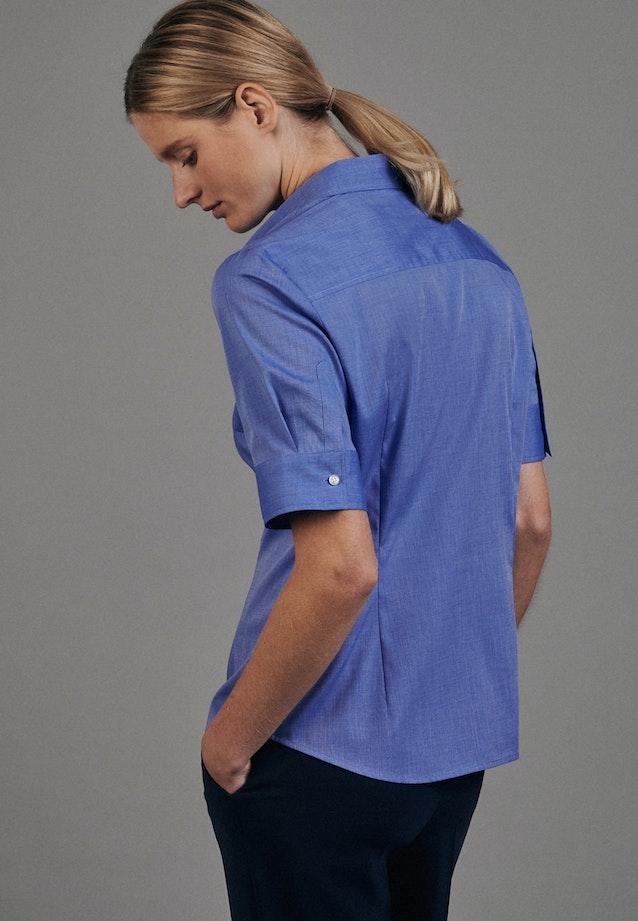 Non-iron Short sleeve Popeline Shirt Blouse made of 100% Cotton in Medium blue |  Seidensticker Onlineshop
