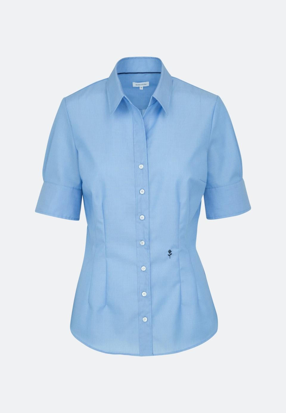Non-iron Short sleeve Poplin Shirt Blouse made of 100% Cotton in Medium blue |  Seidensticker Onlineshop
