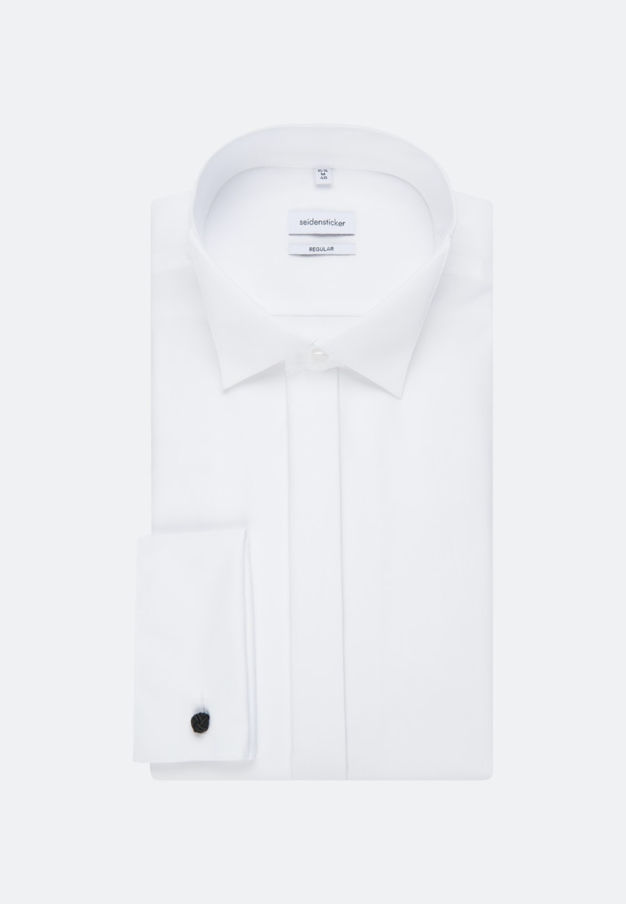 Non-iron Popeline Gala Shirt in Regular with Wing Collar in White |  Seidensticker Onlineshop