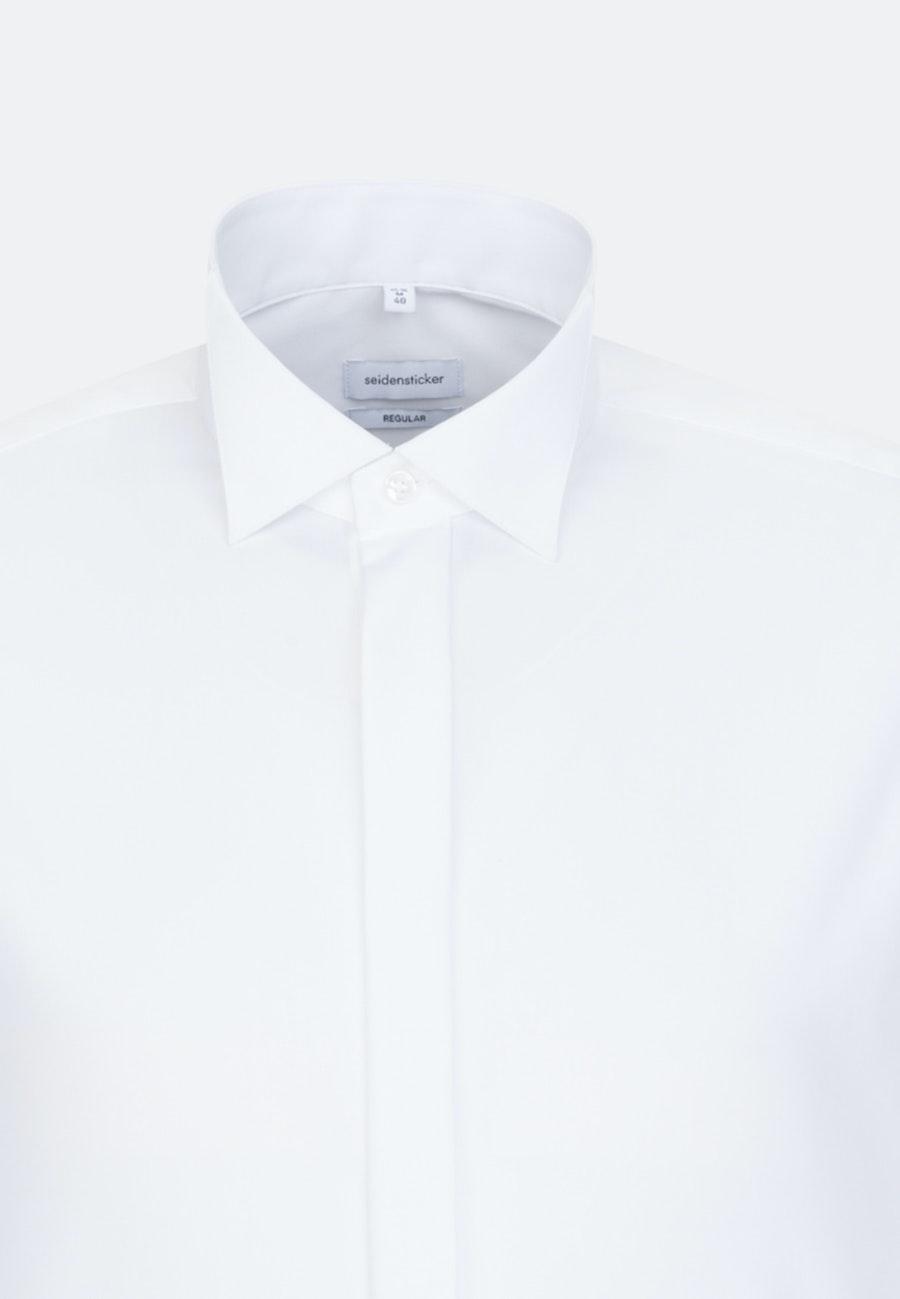 Non-iron Poplin Gala Shirt in Regular with Wing Collar in White    Seidensticker Onlineshop