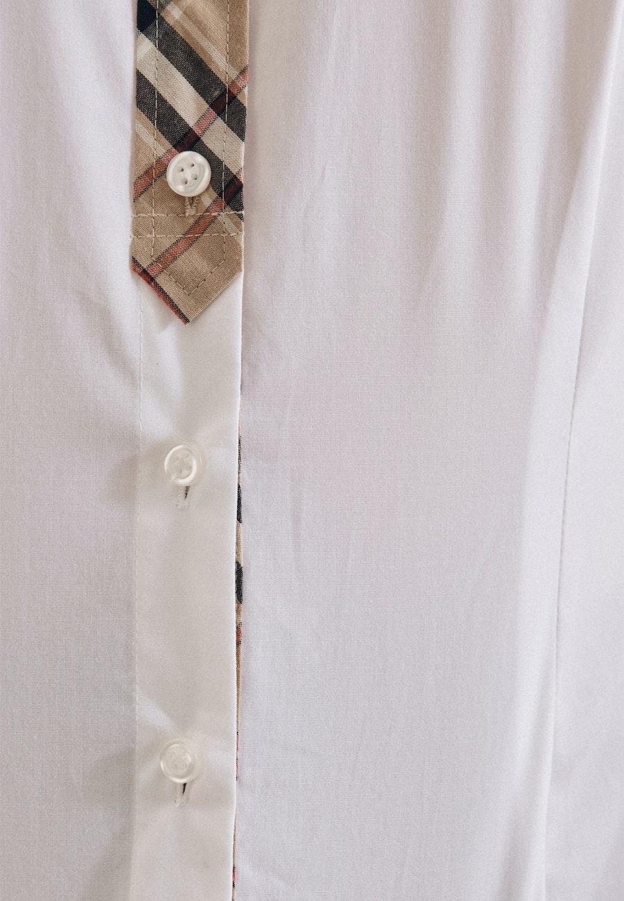 Popeline Shirt Blouse made of cotton blend in White |  Seidensticker Onlineshop