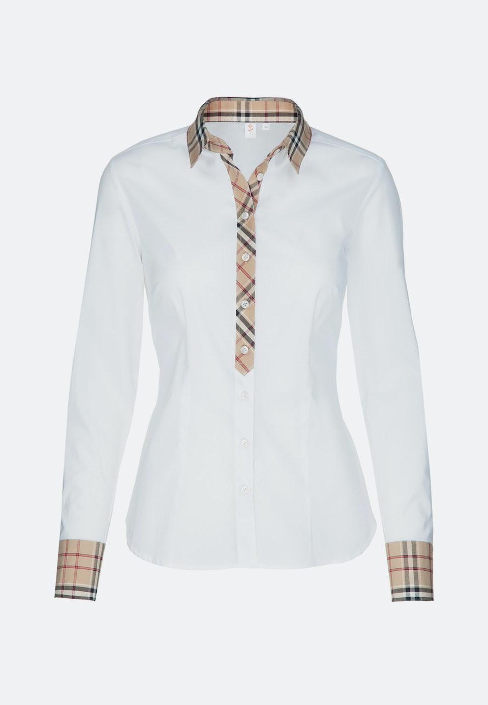 Popeline Hemdbluse aus Baumwollmischung in Weiß    Seidensticker Onlineshop