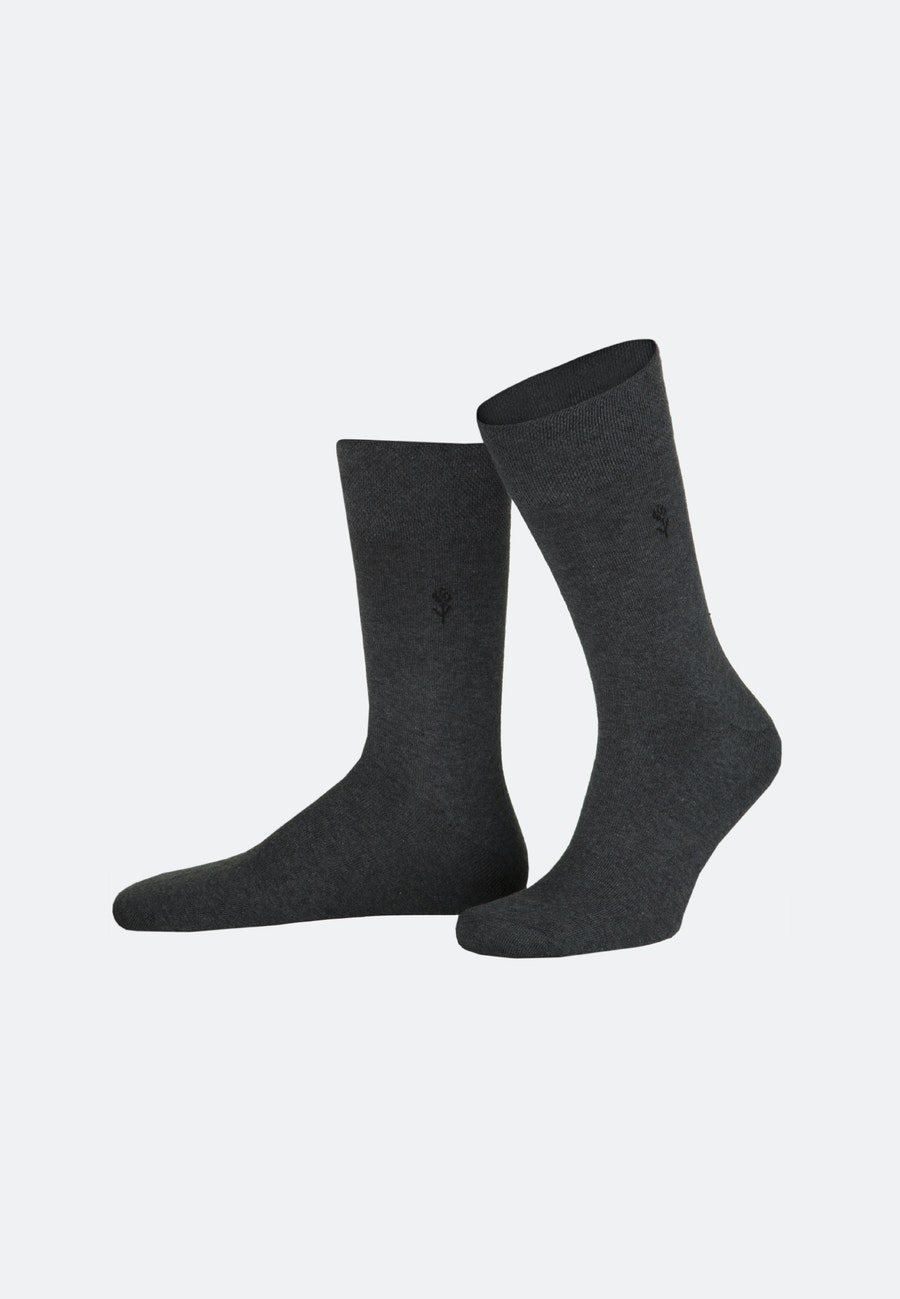 Two-Pack Socks made of cotton blend in Grey |  Seidensticker Onlineshop