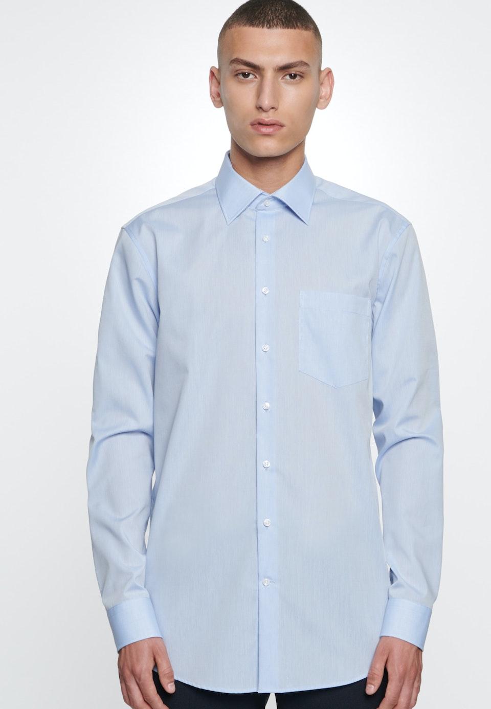 Bügelfreies Chambray Business Hemd in Regular mit Kentkragen in Hellblau    Seidensticker Onlineshop