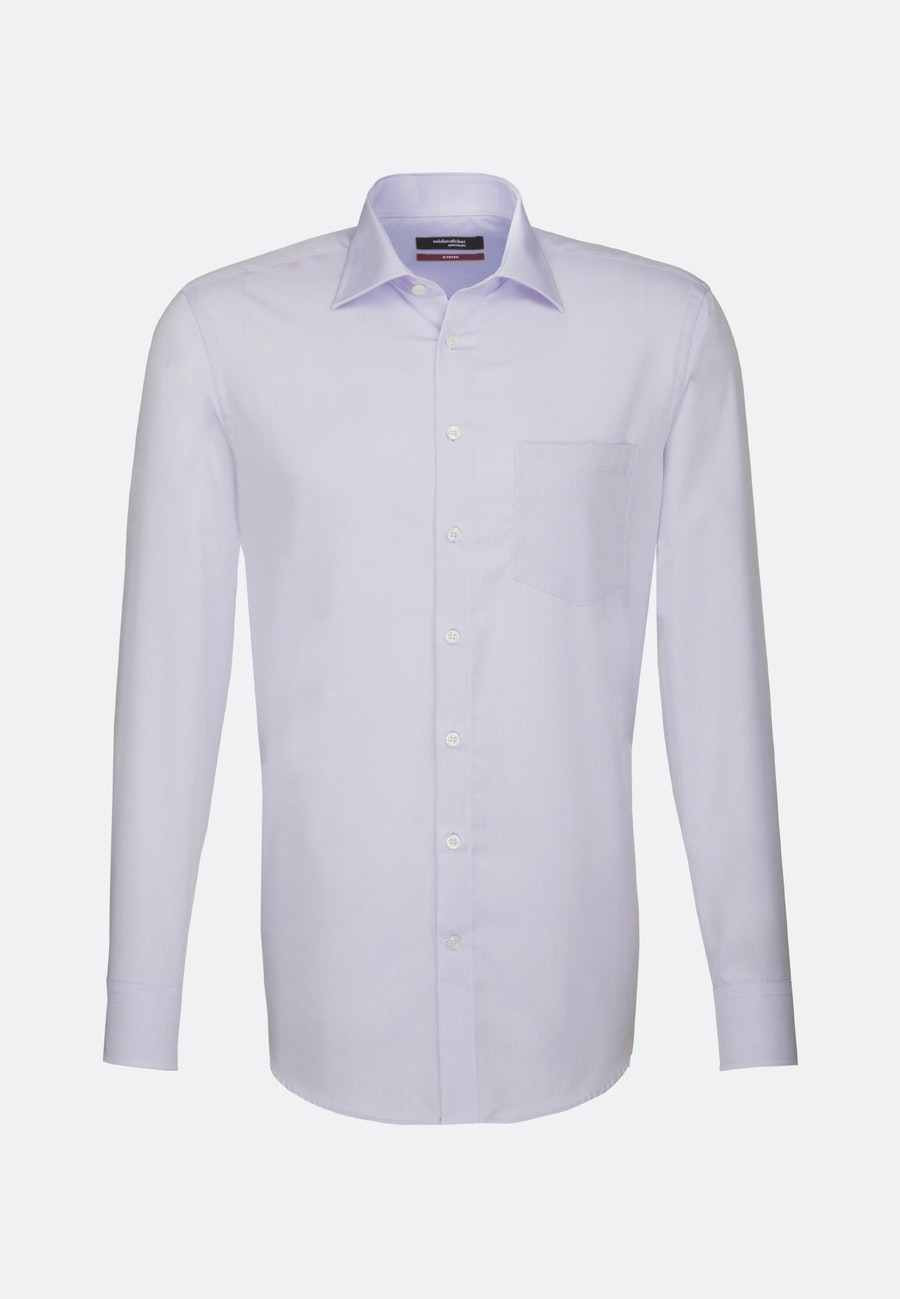 Non-iron Chambray Business Shirt in Regular with Kent-Collar in Lila |  Seidensticker Onlineshop