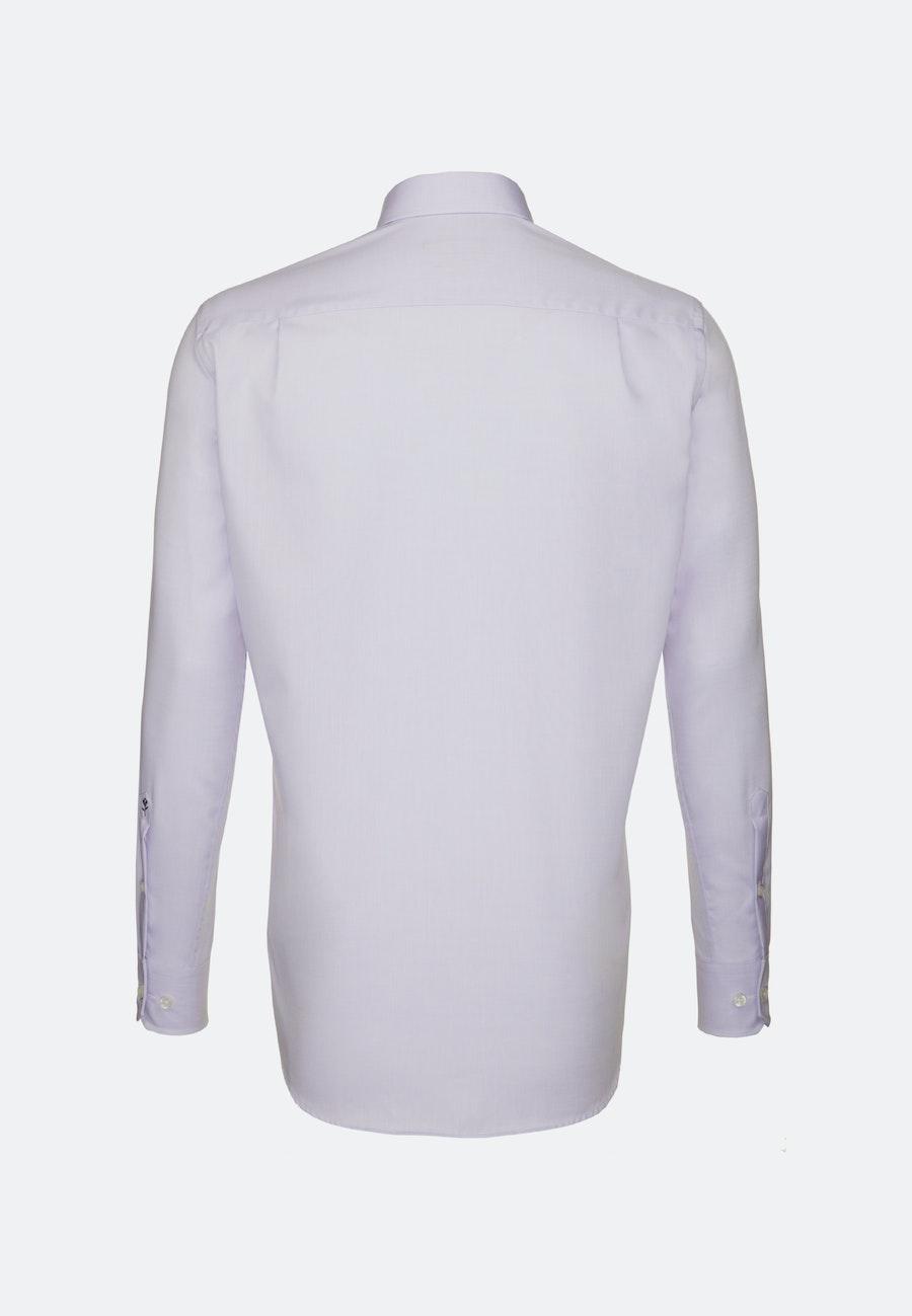 Bügelfreies Chambray Business Hemd in Regular mit Kentkragen in Lila    Seidensticker Onlineshop