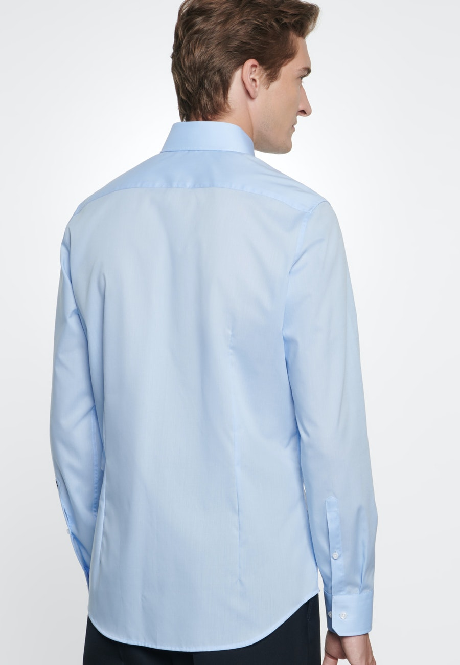 Non-iron Poplin Business Shirt in Slim with Kent-Collar in Hellblau |  Seidensticker Onlineshop