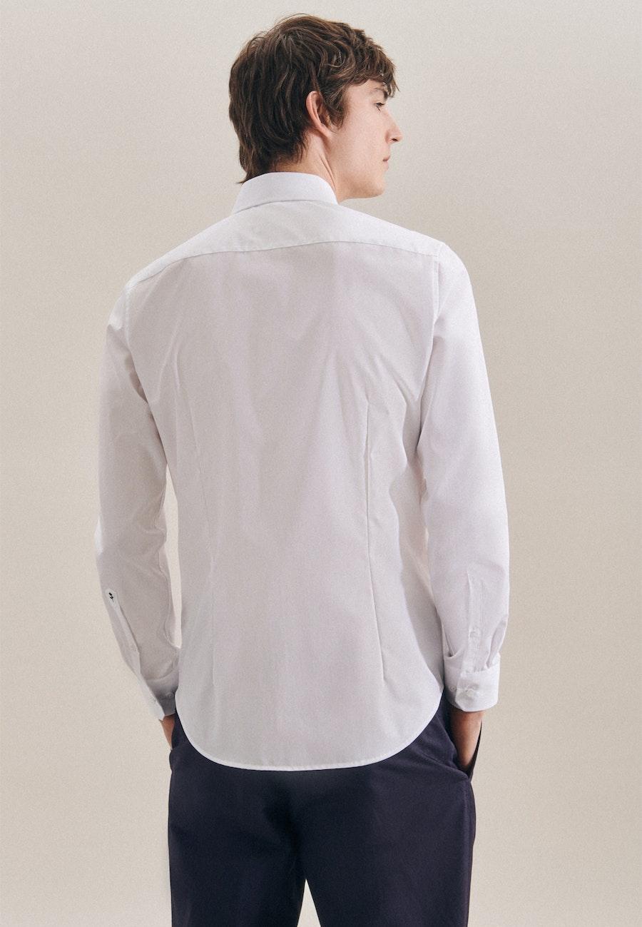 Non-iron Popeline Business Shirt in Slim with Kent-Collar in White    Seidensticker Onlineshop