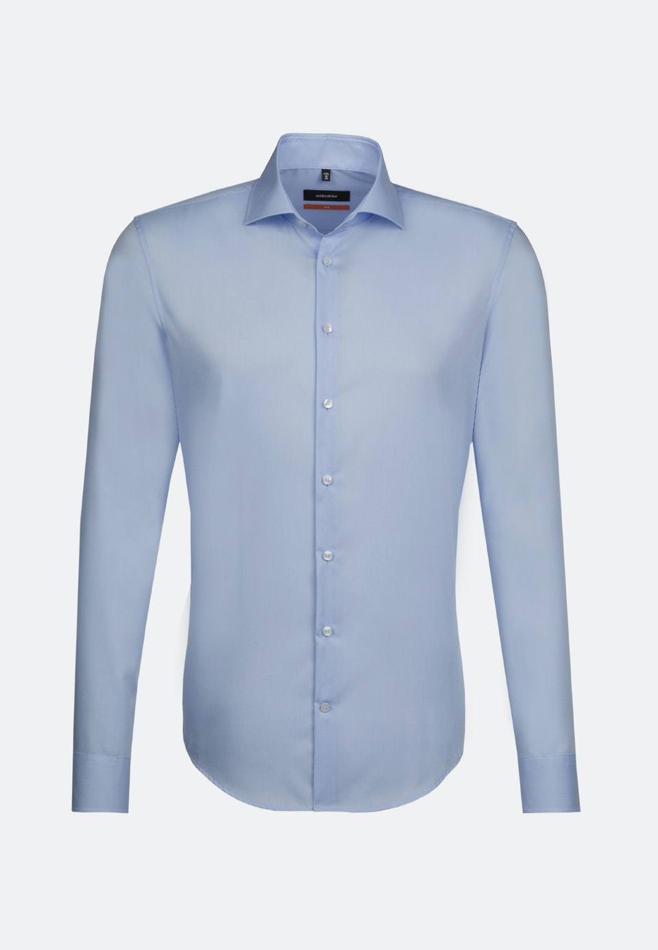 Non-iron Popeline Business Shirt in Slim with Kent-Collar in Light blue |  Seidensticker Onlineshop